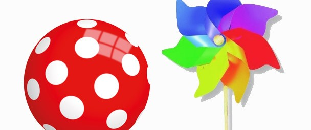 Ball und Windrad